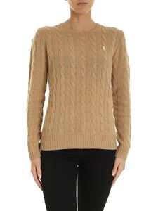 POLO Ralph Lauren - Braided pullover in camel color