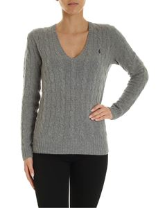 POLO Ralph Lauren - Braided pullover in grey color