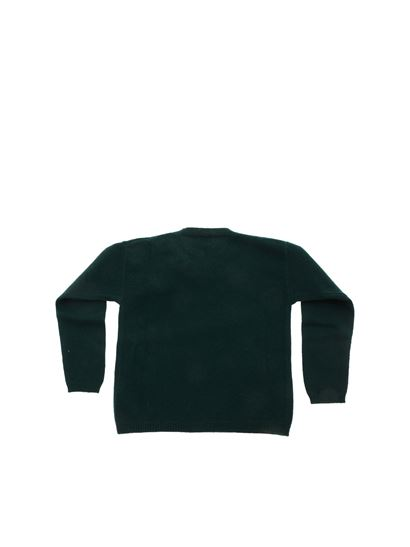 Il Gufo - Floral embroidery pullover in green