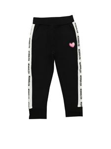 Monnalisa - Branded side bands trousers in black