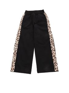 Monnalisa - Animal print side bands pants in black