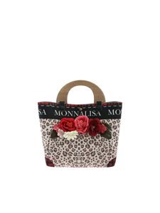 Monnalisa - Animal print handbag with logo