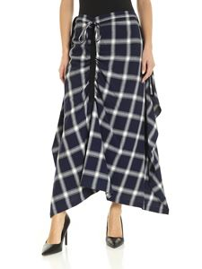 McQ Alexander Mcqueen - Check skirt in blue and grey