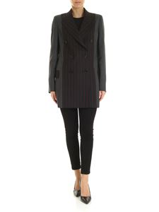 McQ Alexander Mcqueen - Striped blazer in grey and black