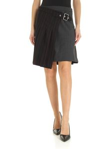 McQ Alexander Mcqueen - Pinstriped miniskirt in black and gray