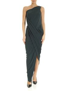Vivienne Westwood Anglomania - Vian one-shoulder dress in green