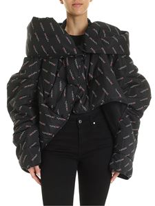 Vivienne Westwood Anglomania - Propaganda down jacket in black
