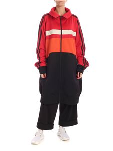 Y-3 Yohji Yamamoto - Logo patch sweatshirt in red orange and black