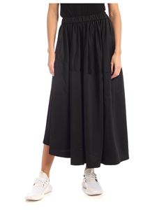 Y-3 Yohji Yamamoto - Black skirt with purple side trims