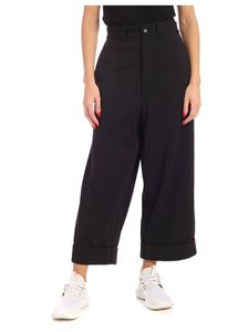 Y-3 Yohji Yamamoto - Black pants with tone on tone edges