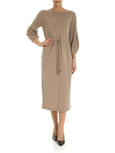 Peserico - Camel-colored dress with drawstring