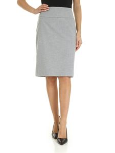 Peserico - Melange grey skirt with vent
