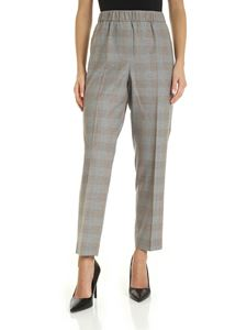 Peserico - Micro beads finished trousers in gray and beige