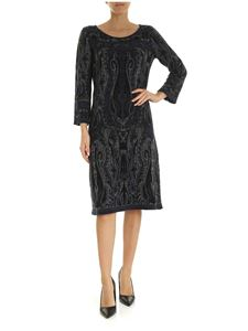 Etro - Iconic motif dress in blue and gray