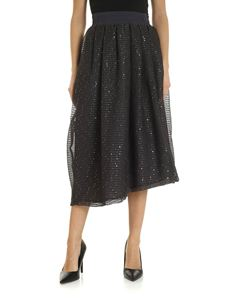 Fabiana Filippi - Micro-sequined skirt in gray