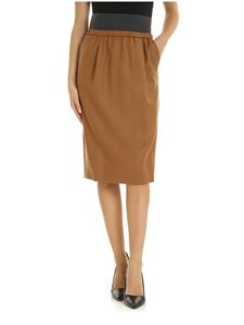 Fabiana Filippi - Camel-colored skirt with elastic