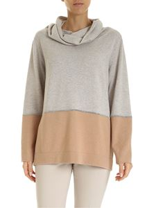 Fabiana Filippi - Micro-beads pullover in beige and pink
