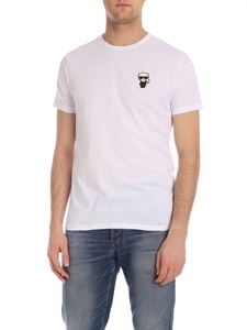 Karl Lagerfeld - T-shirt Ikonik Rubber bianco con patch