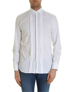 Karl Lagerfeld - Pleated shirt in white