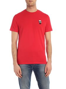 Karl Lagerfeld - T-shirt Ikonik Rubber rossa con patch