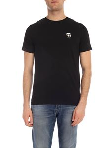 Karl Lagerfeld - Ikonik Rubber T-shirt in black with patch
