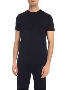 Karl Lagerfeld - Blue T-shirt with embossed logo