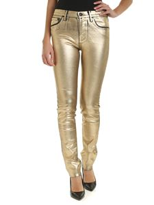 Jacob Cohën - Coated jeans in black ang gold