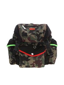 GCDS - Camouflage backpack in green