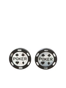 Paul Smith - Poker cufflinks in black