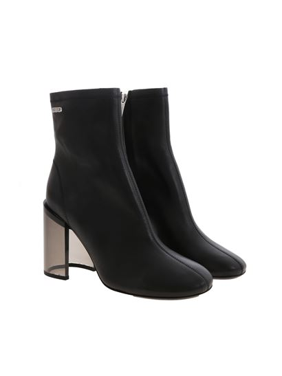 Kenzo - Transparent heel ankle boots in black