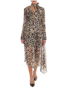 Pinko - Alkermes dress in shades of beige and black