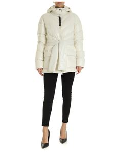 Pinko - Down jacket in ivory color