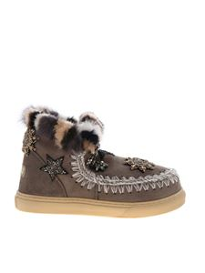 Mou - Sneakers Eskimo Star Patches & Mink Fur grigie