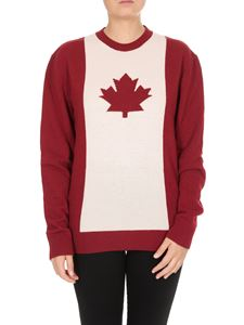 Dsquared2 - Maple Leaf Knit sweater in red and white