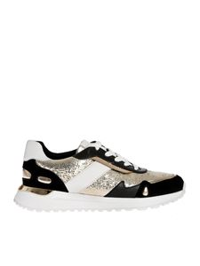 Michael Kors - Monroe sneakers in metallic leather and suede