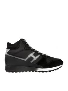 Hogan - Sneakers H383 Hi Top nere e argento