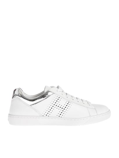 Hogan Fall Winter 19/20 h327 sneakers in white and silver ...