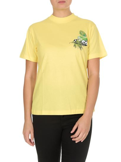Off-White - T-shirts Racing in yellow