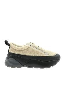 Stella McCartney - Sneakers Eclypse in eco-pelliccia beige