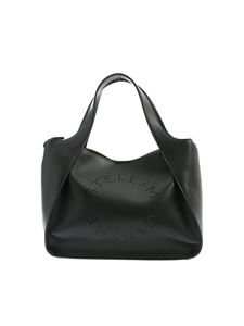 Stella McCartney - Tote bag with openwork logo in black