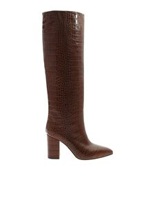 Paris Texas - Reptile print boots in brown