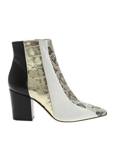 Sergio Rossi - Reptile effect ankle boots in black and white