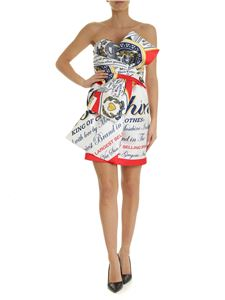 Moschino - Moschino Budweiser short dress in white