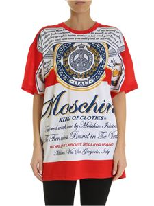 Moschino - Moschino x Budweiser T-shirt in red