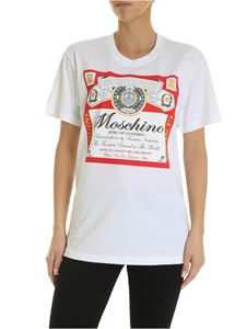 Moschino - Moschino x Budweiser T-shirt in white
