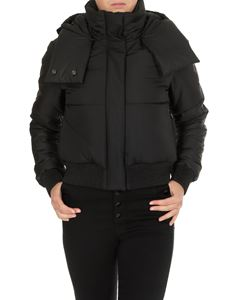 Off-White - Black down jacket with synthetic padding