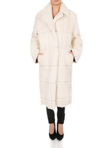 Off-White - Shearling Coat in beige