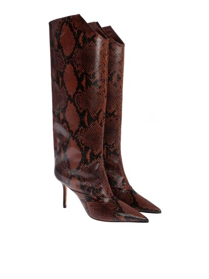 Jimmy Choo - Brelan 85 boots in Cuoio color