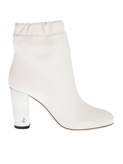 Jimmy Choo - Marva 85 ankle boots in Latte color