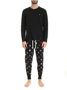 POLO Ralph Lauren - Logo print pajamas in black